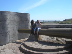 Me and Mylene sitting on the cannon