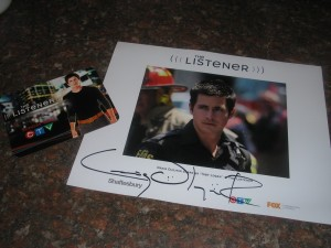 Autographed picture of Craig Olejnik as Toby Logan from The Listener