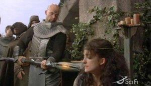 Fraser Aitcheson as a Jaffa on Stargate SG-1