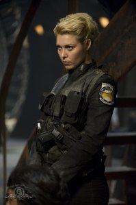 Alaina Huffman as Lt. Tamara Johansen on SGU