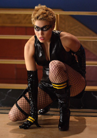 Alaina Huffman as Black Canary from Smallville